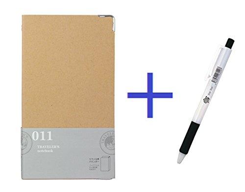 - Midori Traveler's Notebook Binder for Refills + Daidai Original Ballpoint Pen Made from Zebra