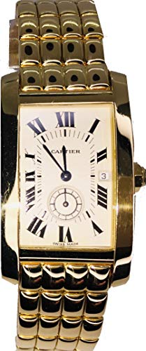- Cartier Tank Americaine Automatic-self-Wind Male Watch 8012905 (Certified Pre-Owned)