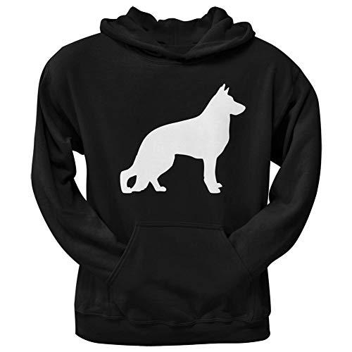 German Shepherd Merchandise - German Shepherd Silhouette Black Adult Hoodie