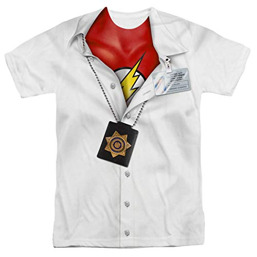 The Flash Pullaway Shirt DC Comics T Shirt & Exclusive Stickers (XXX-Large)]()