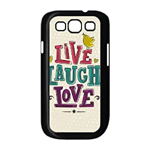 Samsung Galaxy S3 I9300 2D Custom Hard Back Durable Phone Case with live laugh love Image
