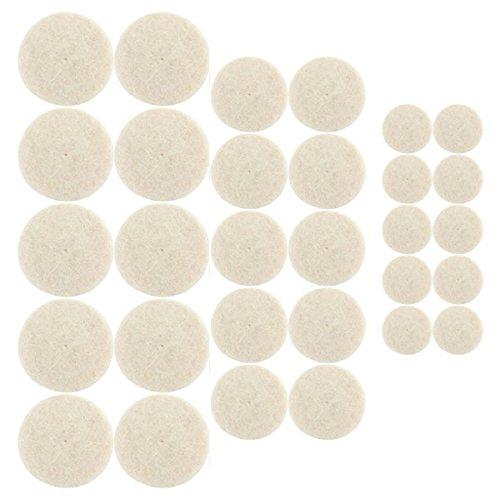 33Pcs Soft Felt Polishing Buffing Wheel Mixed Accessory for Dremel - 1