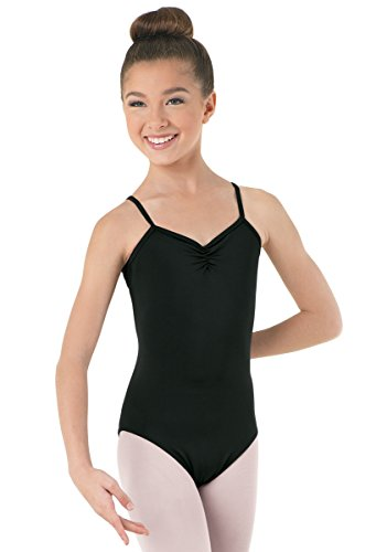 Balera Camisole Dance Leotard Pinch Front Black Adult Small