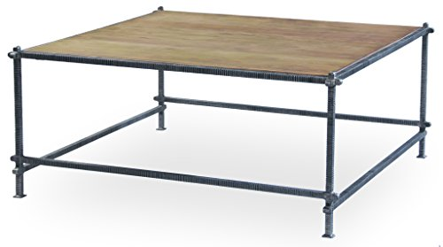 Sarreid 30143 Mid-Century Square Coffee Table