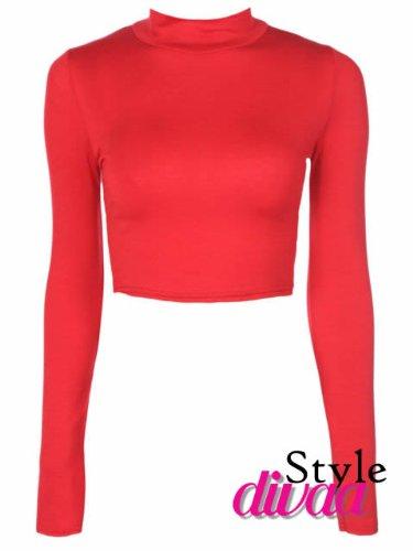 Style Divaa -  Maglia a manica lunga  - Donna Rosso rosso