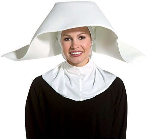Rasta Imposta Women's Sister Nun Flighty Hat Headpiece Halloween Costume Accessory]()