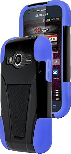 Galaxy Ring Phone Case, Bastex Heavy Duty Hybrid Soft Royal Blue Silicone Cover Hard Black Kickstand (T-Stand) Case for Samsung Galaxy Ring M840