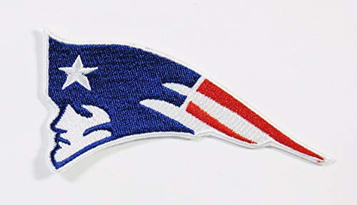 - NFL New England Patriots Logo Facing Left Embroidered Iron ON Patch 4 1/2