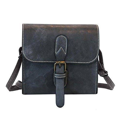 - Clearance!Women Bags❤️COPPEN Fashion Women Girl Fashion Vintage Buckle Flap Bag Crossbody Shoulder Bag (Gray)