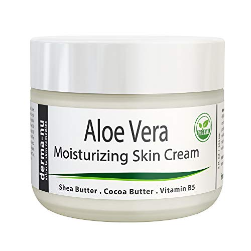 Aloe Vera Dry Skin Cream - Best Remedy Skin Repair Cream by Derma-nu - Organic Treatment for Face  Body - Treatment for Psoriasis and Eczema Therapy - Non-greasy and Fast Absorbing - 8oz best to buy