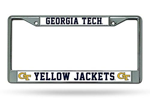 NCAA Georgia Tech Yellowjackets Chrome License Plate Frame ()