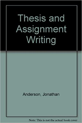 THESIS AND ASSIGNMENT WRITING PDF