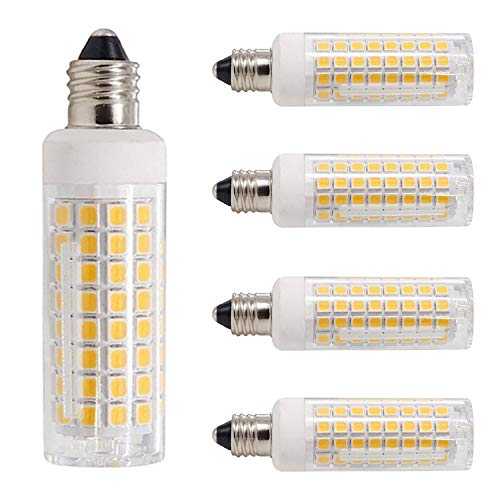 All-New-(102LEDs) E11 Led Bulbs, 80W or 100W Equivalent Halogen Replacement Lights, Dimmable, Mini Candelabra Base, 850 Lumens Warm White 3000K, AC110V/ 120V/ 130V, Replaces T4 /T3 JD e11,Pack of 4