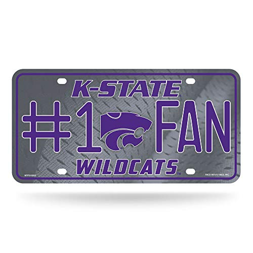 NCAA Kansas State Wildcats #1 Fan Metal License Plate Tag