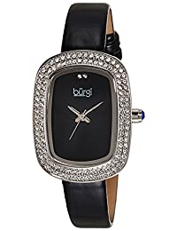 Burgi Women's BUR111SSB Analog Display Swiss Quartz Black Watch