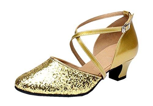 e Jazz 35 EU Moderno Joymod 8cm Heel MGM 4 Style1 Donna Gold Oro Rp6qxxwE