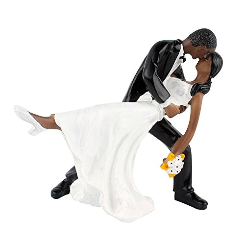 Riverbyland Dancing Couple African American Figurine Wedding Cake Topper (Cake Wedding Topper African American)