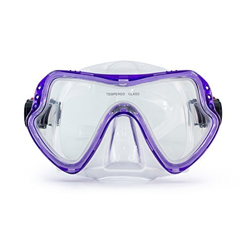 Swimming Scuba Mask Diving Mask Free Diving Glasses Snorkeling Mask Snorkel Goggles with Tempered Anti-Fog Lens Glasses Silicone Skirt Soft Flexible Silicone Strap for Adult Men Women Youth
