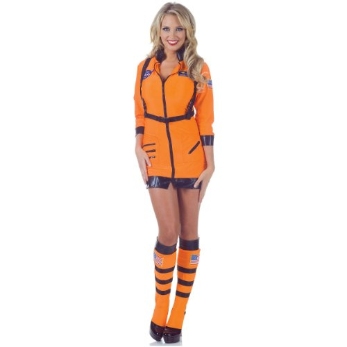 Underwraps Women's Cosmic, Orange, (Space Suit Costume Ideas)