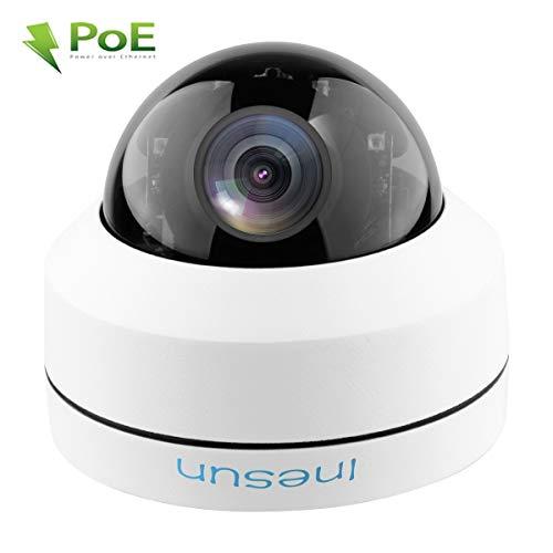 Inesun Outdoor 5MP Vandal Resistant POE IP Security Camera HD 2592x1944p 4X Zoom PTZ Dome Camera – IP66 Waterproof, IK10 Vandal-Proof,100ft IR Night Vision