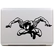 "Vati Leaves Removable Spider-Man Decal Sticker Skin Art Black for Apple Macbook Pro Air Mac 13"" 15"" inch / Unibody 13"" 15""Inch Laptop"