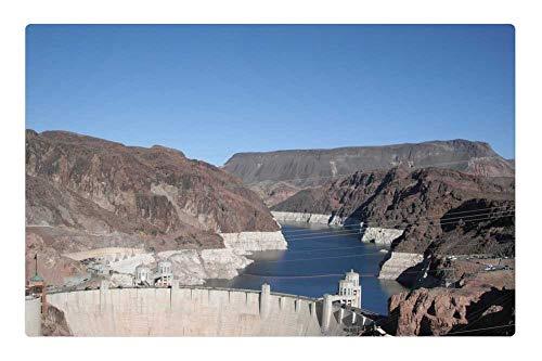 Tree26 Indoor Floor Rug/Mat (23.6 x 15.7 Inch) - Boulder Dam Las Vegas Nevada Hoover Dam Dam