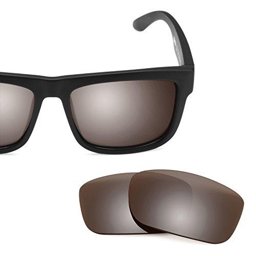 Verres de rechange pour Spy Optic Discord — Plusieurs options Polarisés Elite Flash Bronze MirrorShield®