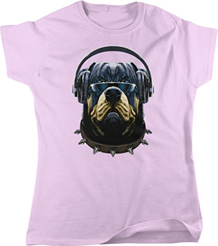 Rottweiler with Headphones and Sunglasses, DJ Rotty Women's T-shirt, NOFO Clothing Co. XL - Fetch Sunglasses