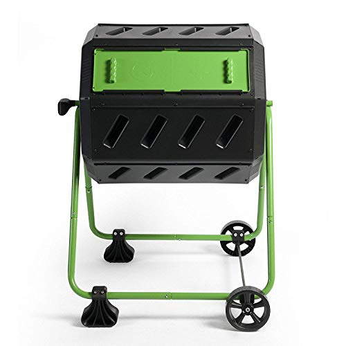 Hot Frog Mobile Dual-Chamber Compost Tumbler (Wheels Compost)
