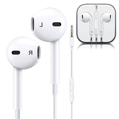 Premium Earbuds,Earphones Headphones with Stereo Mic&Remote Noise Isolating headset Control for iPhone iPod iPad Samsung Galaxy S7 S8 and Android (Stereo Headset Headphones)