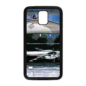 Samsung Galaxy S5 Case Painting F 15 Eagle, Flying Eagle Kweet, {Black}