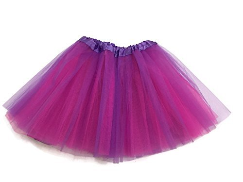 Pink Tutu Purple And (Rush Dance Reversible Sides Ballerina Girls Dress-Up Ballet Costume Recital Tutu (Kids (3-8 Years Old), Hot Pink &)