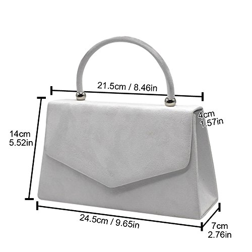 velvet Bag Womens Ladies Evening White Bridal Luxury Brand Suede Prom Clutch Handbag Wocharm 2 Pleated Party New zq0gxU