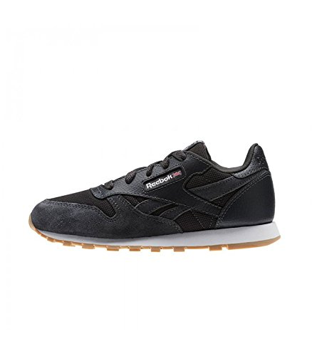 Niños Zapatillas white Reebok Eu coal Para 000 5 De 32 Estl Cl Deporte Leather Gris nvxrvR