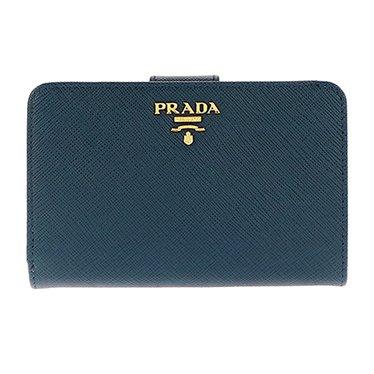 aaa382c8d930 Amazon   (プラダ) PRADA 二つ折財布 #1ML225S/ME-BLUE 並行輸入品 ...