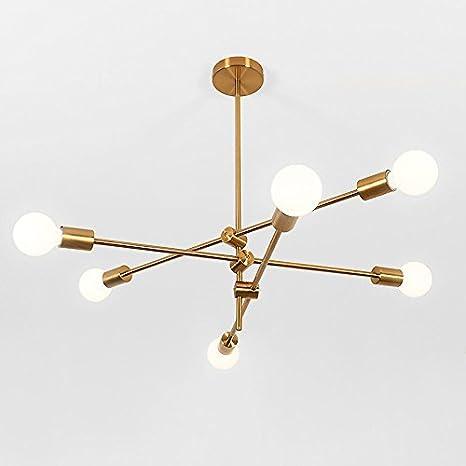 bokt mid century modern 6 light sputnik chandelier light fixture