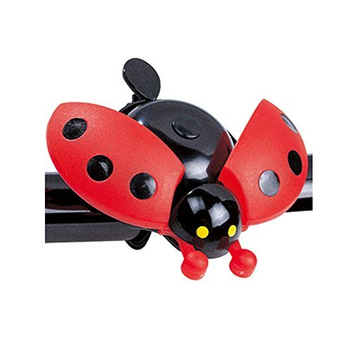 JXULE Child Beetle Ladybug Ring Bell for Cycling Bicycle Bike Ride Horn Alarm