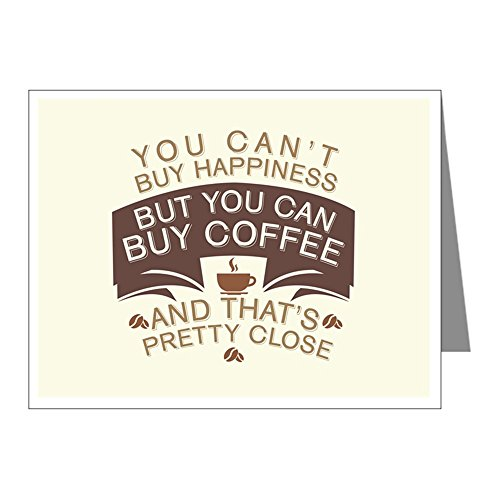 Greeting Cards (10 Pack) You Can't Buy Happiness Buy Coffee]()