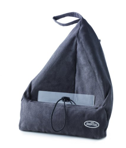 Book Seat 9346017000093 Lesesack/Buchstütze/Buchkissen/Tablet PC halter/Reisekissen mit Tasche, grau