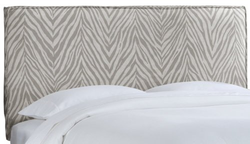 Skyline Furniture French Slipcover Headboard, Twin, Sudan Graphite - Upholstered Headboard Slipcover