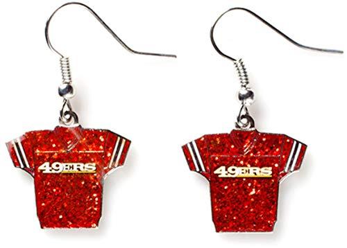 (NFL San Francisco 49ers Glitter Jersey Earrings)