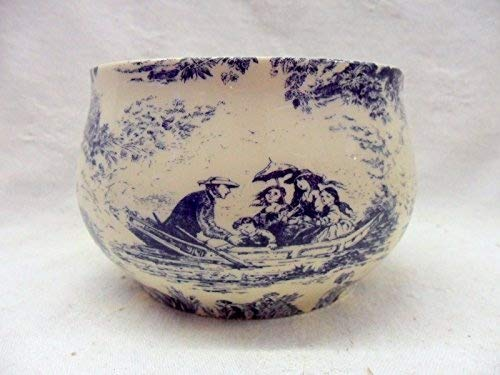 Heron Cross Pottery Blau Toile Du Joey Zuckerdose