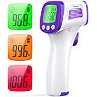 Forehead Thermometer for Adults, No Touch Forehead Thermometer WISHDREAM Infrared Thermometer with Instant Accurate Reading and Fever Alarm, Non Contact Thermometer for Baby, Kids and Adults