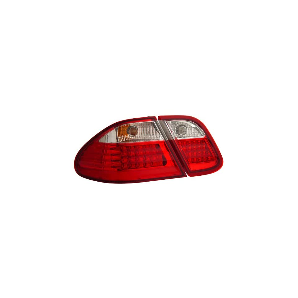 Mercedes Benz Clk 320 430 W208 98 03 L.E.D Tail Lamps / Lights Red/Clear Euro Performance