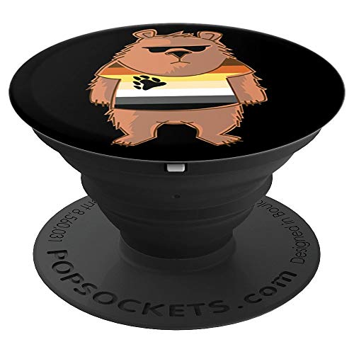 LGBTA, Bear Design Gay Pride Bear - PopSockets Grip and Stand for Phones and Tablets