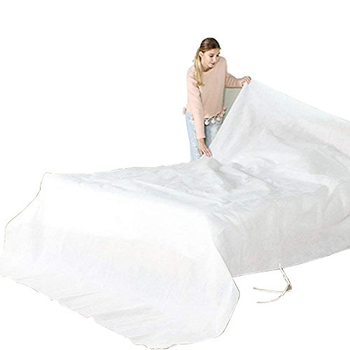 Non-woven Dustproof Covers For Bed Sofa Couch Furniture Protector Cover Shelter Breathable Non-woven Material Mouldproof and Long Term Storage Adjustable with Rope for Better Fit HZC03 126