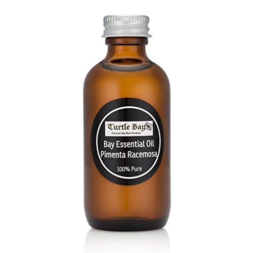 Turtle Bay Premium Bay Oil - Bay Essential Oil - Bottle (2 oz) (Bay Rum Essential Oil)