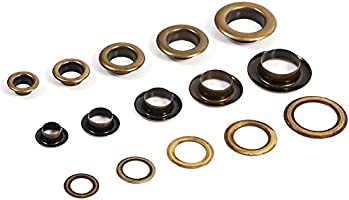 20sets Yosoo 14mm Antique Brass Eyelet Grommets Kit with Washers for Leather Bags Shoes Canvas Belts DIY Crafts Clothes