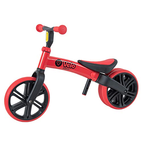 Yvolution Y Velo Junior Toddler Bike | No-Pedal Balance Bike | Ages 18 Months to 4 Years (Red (New))