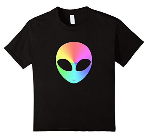 unisex-child Funny Space Alien Costume Tee - Emoji Rainbow Shirt 8 (Funny Space Costumes)